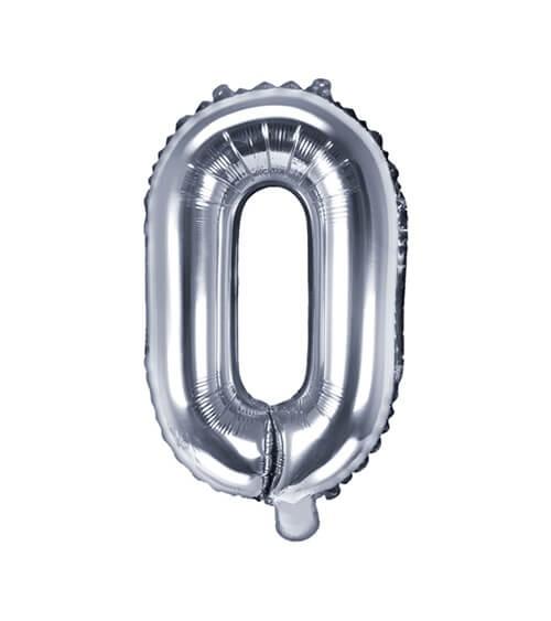 """Folienballon Buchstabe """"O"""" - silber - 35 cm"""