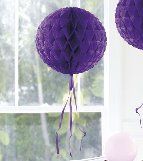 Wabenball mit Tasseln - 30 cm - lila