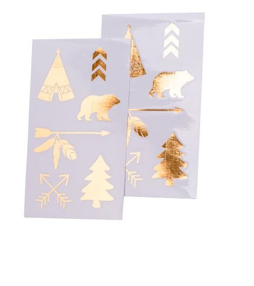 "Sticker ""Indian Forest"" - gold - 12-teilig"