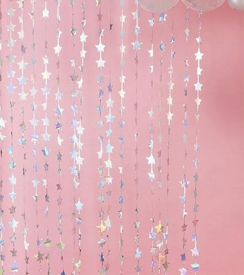 Sternen-Vorhang - irisierend - 1,2 x 2 m