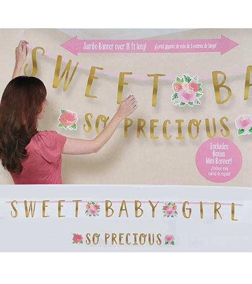 """Girlanden-Set """"Sweet Baby Girl"""" - 2-teilig"""