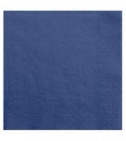 Servietten - navy blue - 20 Stück