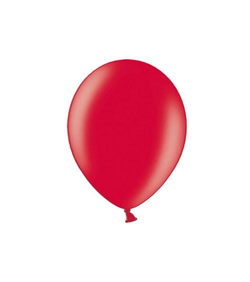 Mini-Luftballons - metallic rot - 12 cm - 100 Stück