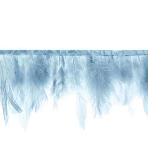 Federngirlande - blau - 1 m