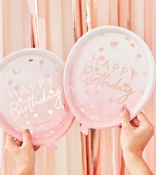 "Ballon-Pappteller ""Mix it up"" - Happy Birthday - 8 Stück"