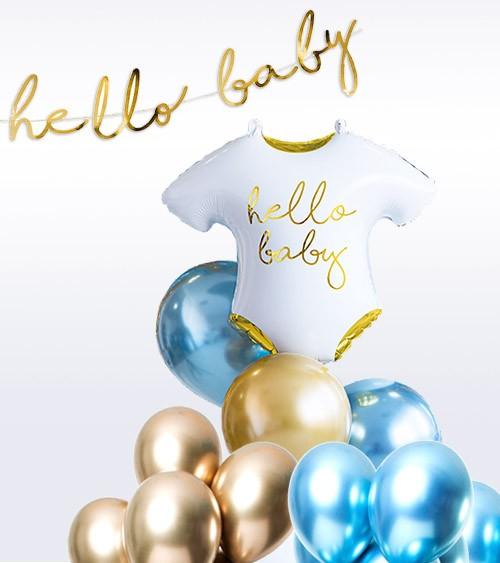 "Babyparty Ballon-Set ""Glossy Blue"" - 26-teilig"
