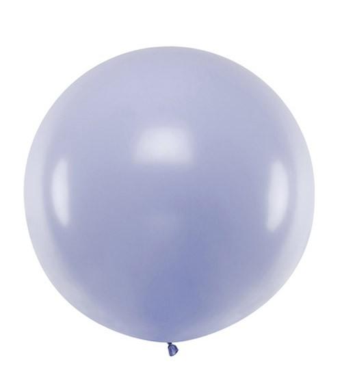 Großer Rundballon - pastell lavendel - 60 cm