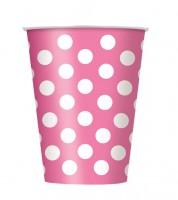 """Pappbecher """"Big Dots"""" - pink - 6 Stück"""