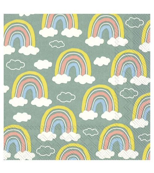 "Servietten ""Rainbow"" - grün - 20 Stück"
