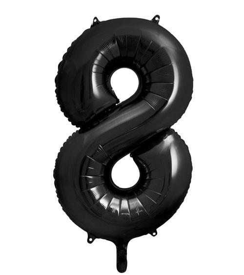 "SuperShape Folienballon ""8"" - schwarz - 86 cm"