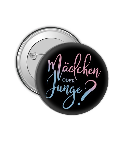 "Button ""Gender Reveal"" - schwarz"