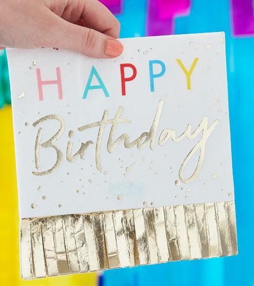 "Servietten ""Mix it up"" - Happy Birthday - Farbmix - 16 Stück"