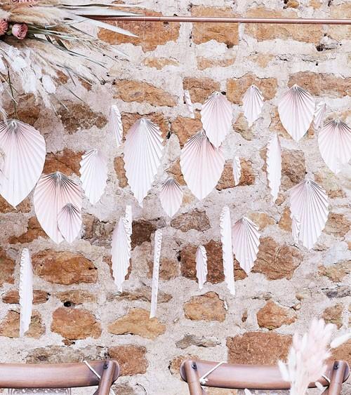 "Papierfächer ""Palmblatt"" - blush - 10-30 cm - 25-teilig"