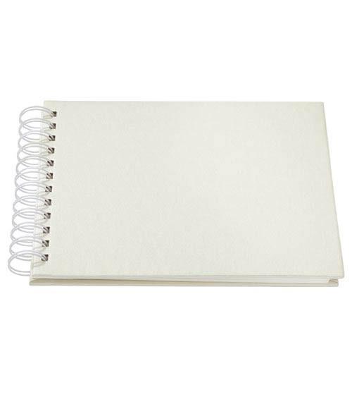 Ringbuch-Album - perlmutt creme - 22 x 17 cm