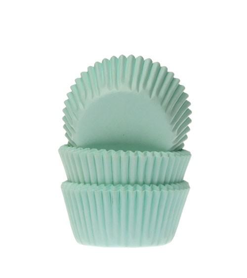 """60 Mini-Muffinförmchen """"Uni"""" - mint"""
