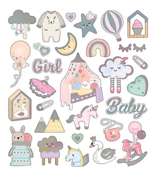 """Sticker """"Baby Girl"""" - mit Metallic-Effekt - 1 Bogen"""