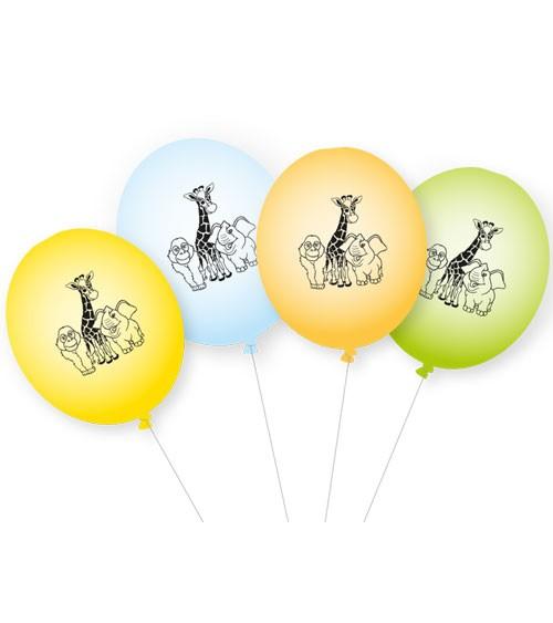 """Luftballon-Set """"Zoo"""" - 8-teilig"""