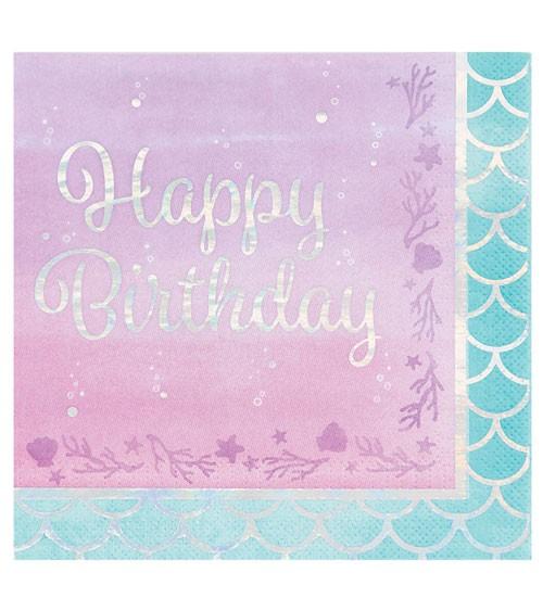 """Servietten """"Mermaid Shine"""" - Happy Birthday - 16 Stück"""