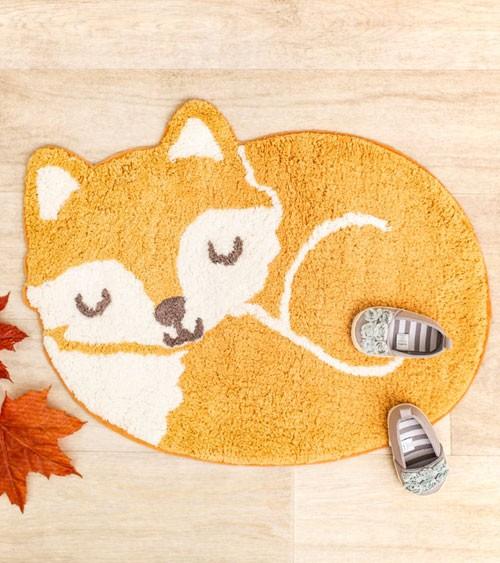 """Kleiner Teppich aus Baumwolle """"Fuchs"""" - 60 x 46 cm"""