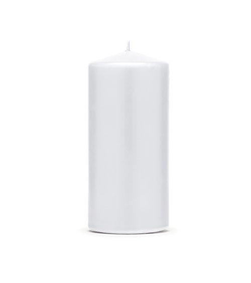Stumpenkerzen - weiß - 12 x 6 cm - 6 Stück