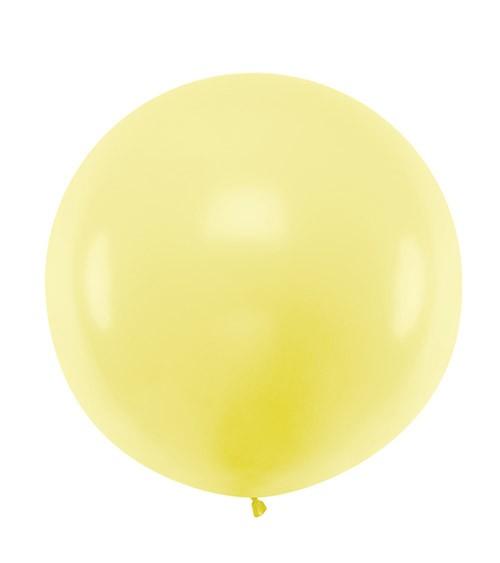 Großer Rundballon - pastell gelb - 60 cm