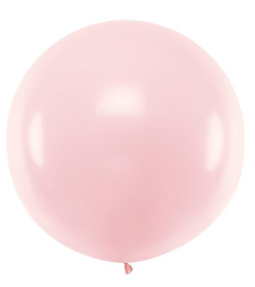 Riesiger Rundballon - pastell rosa - 1 m