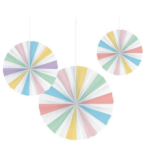 "Papierfächer-Set ""Pastel Celebrations"" - 3-teilig"