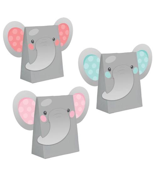"Partytüten-Set ""Little Elephant - Girl"" - 8 Stück"