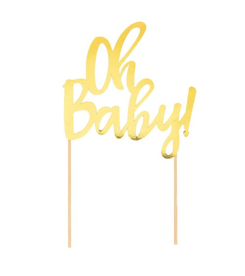 """Cake-Topper """"Oh Baby"""" - gold"""