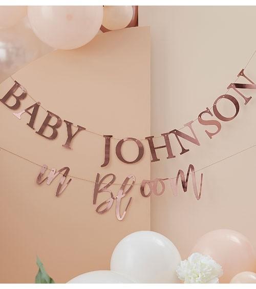 """Personalisierbare DIY-Girlande """"Baby in Bloom"""" - rosegold"""