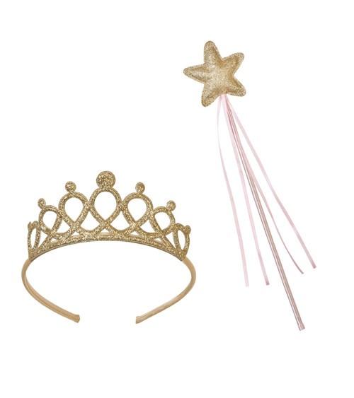 Prinzessinnen-Krone und Glitzerstab