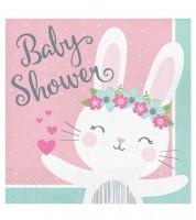 """Servietten """"Häschen"""" - Baby Shower - 16 Stück"""