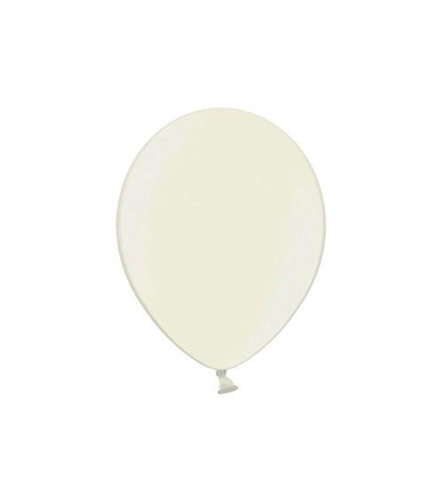 Mini-Luftballons - metallic elfenbein - 12 cm - 100 Stück