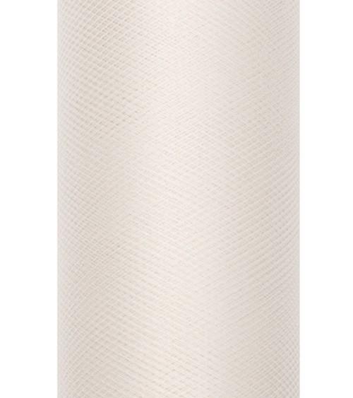 Tischläufer aus Tüll - creme - 30 cm x 9 m