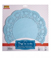 Tortenspitzen - hellblau - 30,5 cm - 18 Stück