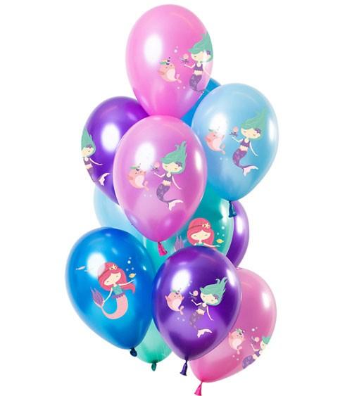 "Metallic-Luftballon-Set ""Meerjungfrau"" - Farbmix - 12-teilig"