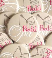 """""""Bald Opa""""-Button mit Buch - pink - 44 mm"""