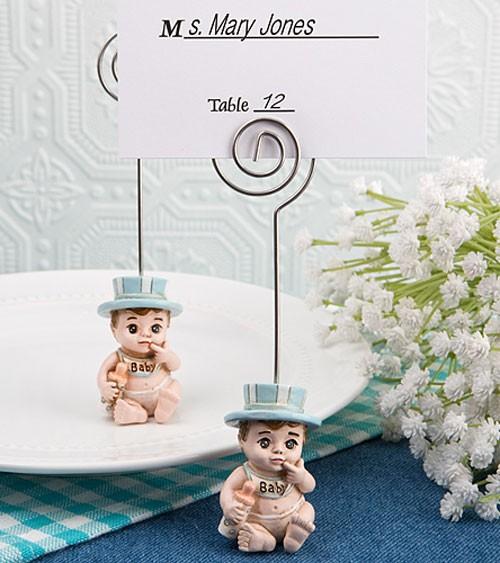 """Platzkartenhalter """"Baby"""" - hellblau"""