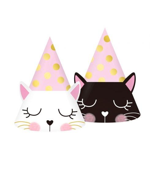 "Partyhüte ""Kätzchen"" - 6-teilig"