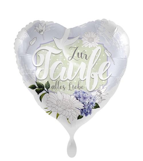 "Herz-Folienballon ""Zur Taufe alles Liebe"""
