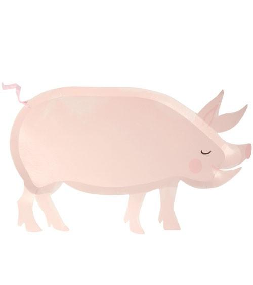 """Shape-Pappteller """"Schwein"""" - 12 Stück"""