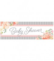 "Großer Partybanner ""Floral Baby"" - 152 x 51 cm"