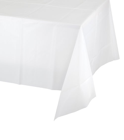 Weiße Tischdecke
