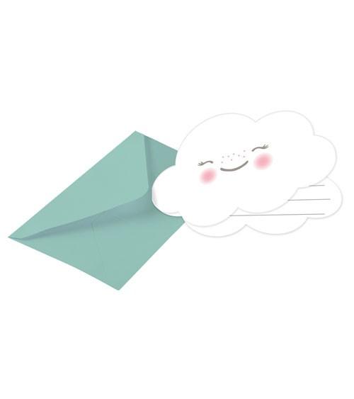 """Einladungskarten """"Wolke"""" - 8 Stück"""