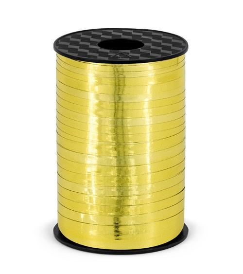 Geschenkband - metallic gold - 5 mm x 225 m