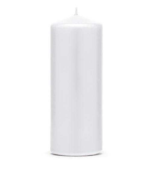 Stumpenkerzen - weiß - 15 x 6 cm - 6 Stück