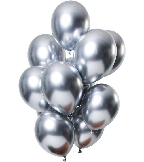 """Luftballons """"Mirror Effekt"""" - silber - 12 Stück"""