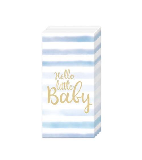 """Papiertaschentücher """"Hello little Baby"""" - hellblau - 10 Stück"""