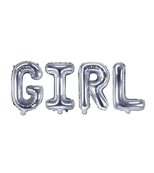 "Folienballon-Set ""GIRL"" - silber - 35 cm"