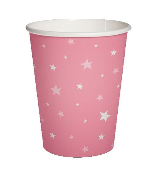 "Pappbecher ""Starlit Sky"" - pink - 10 Stück"